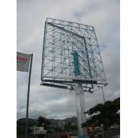 China Outdoor Unipole Billboard Highway , Advertisement Display Boards Anti-Rust on sale