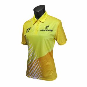 China Free Design Sublimation Women'S Polo Tee Shirts / Ladies Golf T Shirts Yellow on sale