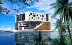 Плавая дом, плавая Buiding, плавая вилла