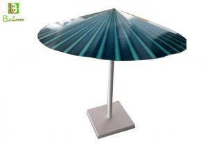 China Merchandising Metal Retail Display Stands Advertisement Paper Folding Umbrella on sale
