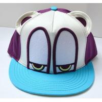 China 3D patch embroidery bright color flat brim cartoon snapback hat on sale