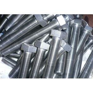 China Power Accessories Flanged Hex Bolt / Stainless Steel T Bolt Corrosion Resistance on sale