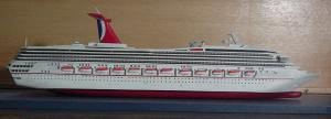 China Distinctive Destiny Carnival Cruise Ship Models Resin Figurine For Decoration on sale