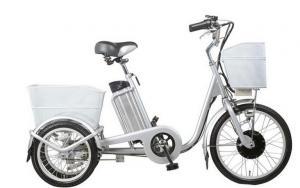 China Smart charger 3 wheeled electric bike 40 - 45km range pedal assist electric bike on sale