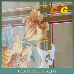 China Gold Printed Plastic PVC Transparent Film / Oilproof Disposible Table Cloths on sale