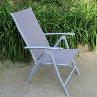 China outdoor iron sling textilene mesh fabric folding arm chair also as bed on sale