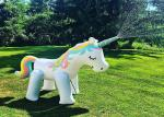 China 200CM PVC Sprinkle Unicorn Inflatable Water Floats Customized Uage For Water Spout wholesale
