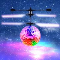 RC Toy, RC Flying Ball, Mini RC infrared Induction Drone Hand Suspension Helicopter Flying Balls Built-in Shinning LED