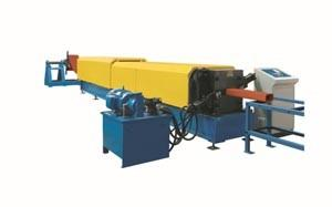 China Steel Profile Roll Forming Machine , 444mm Coil Width Gutter Making Machine on sale