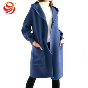 China Long Style Women'S Ankle Length Winter Coat With Hood And Big Pocket on sale