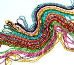 cadena coloreada de la bola para los accesorios o la correa, cadena de la ropa del collar