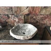 China Carrara Grey Marble Sinks Natural Stone Wash Basin