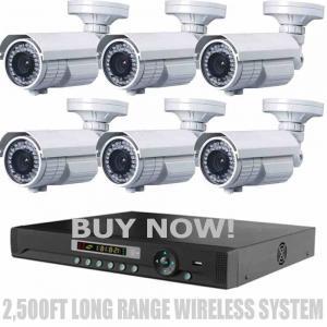 China LONG RANGE WIRELESS 2,500Ft Night Vision 1200TVL Waterproof Security Cameras on sale