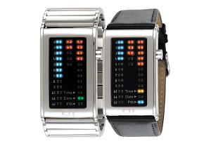 China 72 Blue/RED LED man Watch, high quality best selling--stainless steel watch on sale