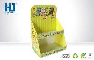 China Yellow Corrugated Paper Caedboard Display Box For Beautiful Cellphone Shell on sale
