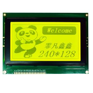 China Yellow Green Positive LCD Display Module 240*128 Resolution Graphic STN LCD Module on sale