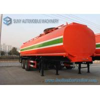 Dilute Hydrochloric Acid  35000 L Chemical Liquid Tank Trailer 3 Axles