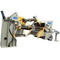 Electric Hydraulic Hole Puncher Coil Feeder Straightener For Metal Sheets With 12 Months Warranty