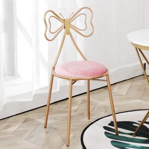 China Luxury Modern Dining Room Chairs With Butterfly Shaped Metal Frame Leather Seat on sale