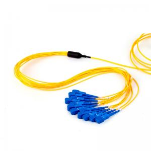 China SC UPC Fan Out Optical Fiber Patch Cord Simplex Core Customized Length on sale