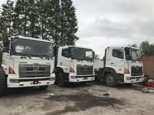 China 6X4 Hino 500 700 Tractor Truck , Japan Used Truck Head Trailer For Sale With Good Condition on sale