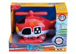 "Light And Sound Rescue Fire Truck Ambulance Infant Baby Toys Red Blue 8 "" Helicopter"