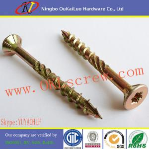 China Yellow Zinc Double Countersunk Head Multi-purpose Torx Wood Screws on sale