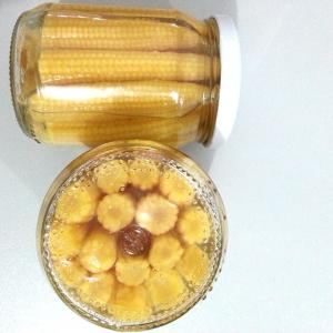 China Factory Price Premiun Healthy Fresh Crop China Brined Canned Baby Corn Whole in Glass Jar on sale