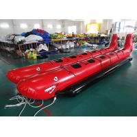 10 Passenger In-Line Red Shark Fireproof Towable Banana Boat Tube For Beach