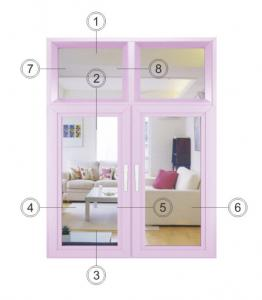 China Single Glass Aluminum Clad Casement Windows / Pink Commercial Casement Windows on sale