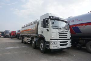 China FAW 8*4 336hp 35CBM Diesel Oil Mobile Fuel Tank Tanker Truck 251 - 350hp Horsepower on sale
