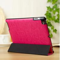 Thin Flip Apple Leather Case Stand For iPad 5 / iPad Air Protective In Red