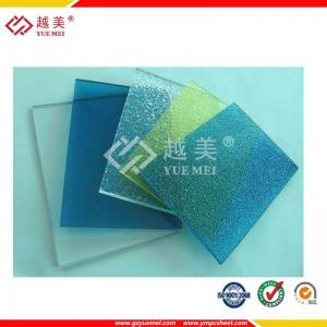 China UV protected 2mm-6mm clear/blue/orange polycarbonate embossed sheet on sale