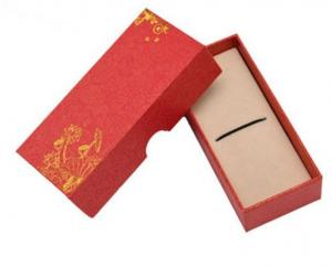China red special paper wooden bookmark packaging box  luxury pen packaging paper box  Custom rigid bookmark and pen box on sale