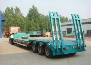 China BPW FUWA axles hydraulic low bed semi trailer air bag suspension low boy truck trailers on sale