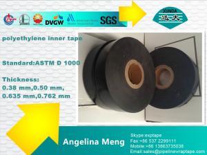 China Polietileno negro blanco de la cinta del aislamiento del tubo de petróleo y gas que apoya el pegamento de goma on sale