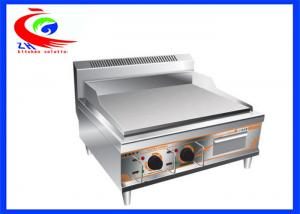 China stainless steel counter top plate electric griddle grill machine on sale