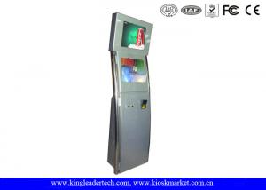 China Interactive Touch Screen Kiosk  With Dual Screen Anti-Glare Vandal-Resistant on sale