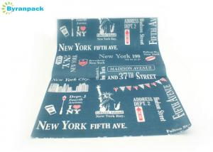 China New York Style Blue Silicone Parchment Paper With Double Side Custom Printed on sale