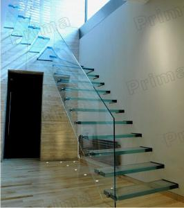 Quality Open Riser Staircase /laminated Glass Staircase / Glass Stairs For  Sale ...