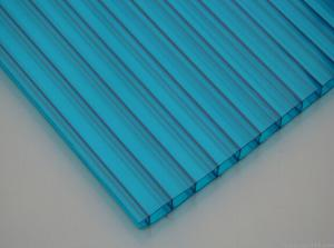 China ASA Coated Anti Scratchs Sun Polycarbonate Hollow Sheet for department store on sale