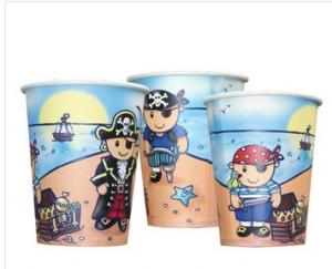 China Customized Logo Printing Paper Popcorn Buckets for Cinema , Printed Big Popcorn Bowls on sale