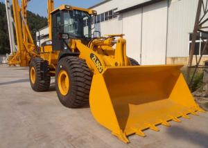 China High Performance XCMG Wheel Loader Machine / 5 Ton Wheel Loader Yellow Color on sale