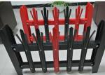 W / D Galvanized Steel Picket Bar Fence , Railings Palisade Fencing And Gates