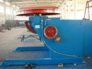 China Motorized Rotary Welding Positioner , Fixed Welding Turn Table 0 - 120°Tilting on sale