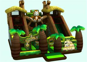 China Castle Combo Rainforest Jumping 0.5mm PVC Inflatable Fun Land on sale