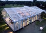 European Style Clear Frame Party Tent With Beautiful Roof Linings / Curtains