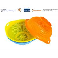 Eco Friendly Plastic Kitchenware Small Round Plastic Basket for vegetable , yellow color