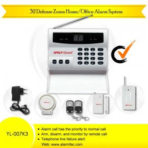 China Remote Control 32 Defense Zone Intruder Auto Dial Alarm System(YL-007K3) on sale