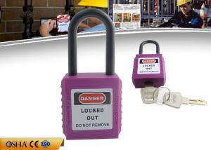 China CE Certification Approved Short Shackle ABS Safety Padlock For Industry on sale